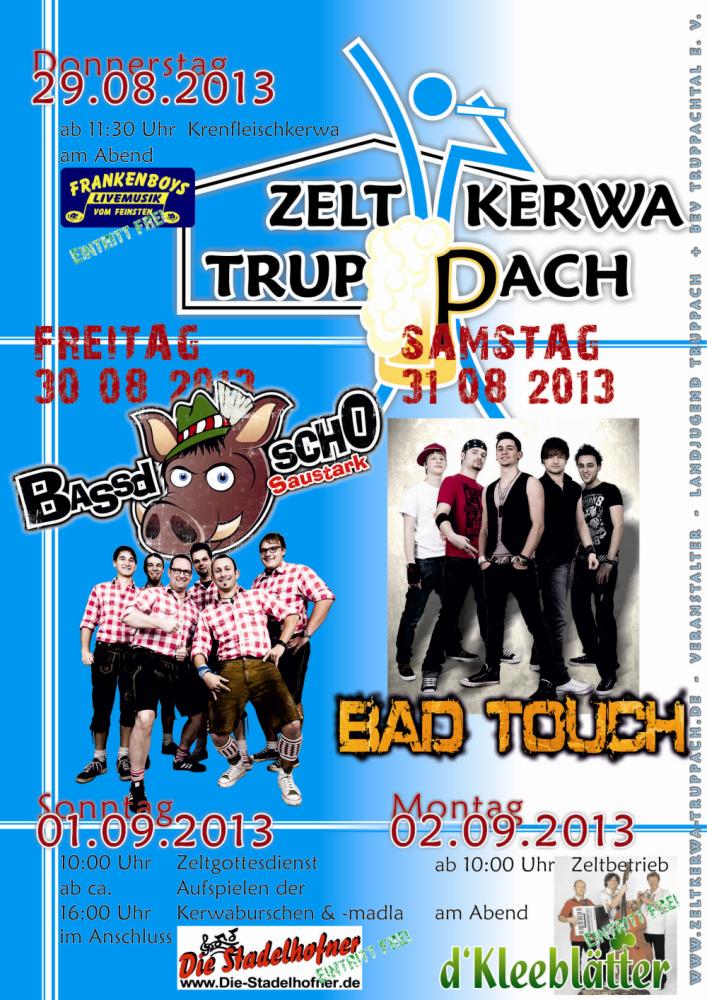 Programm Zeltkerwa Truppach 2013